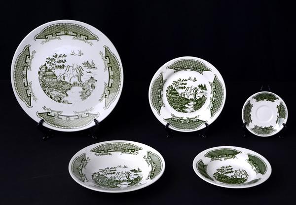 Conjunto platos orientales Willow