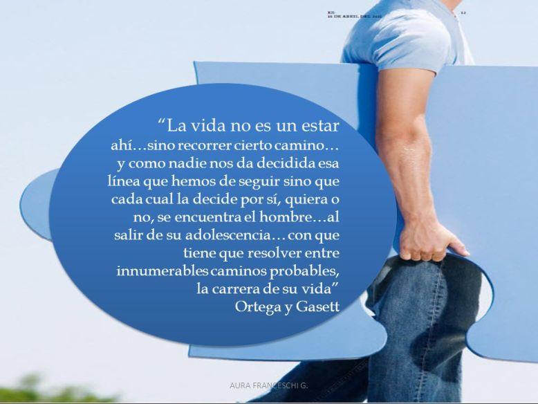 Ortega y Gasett. AURA FRANCESCHI G.