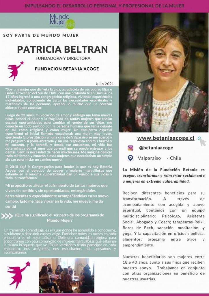 Artículo Soy Parte de Mundo Mujer Patricia Beltran